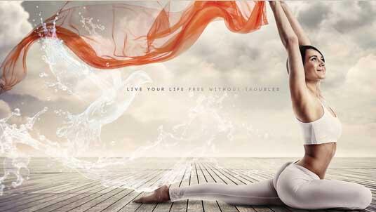 将瑜伽动作融合到音乐中,将体位法按照不动音乐编排成一套动作,让
